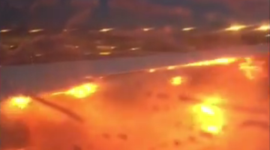 'Near death experience': Singapore Airlines jet bursts into flames on emergency landing (VIDEO)