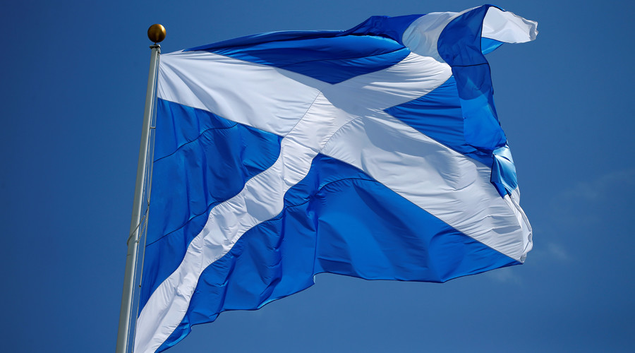 The Scottish flag © Carlo Allegri