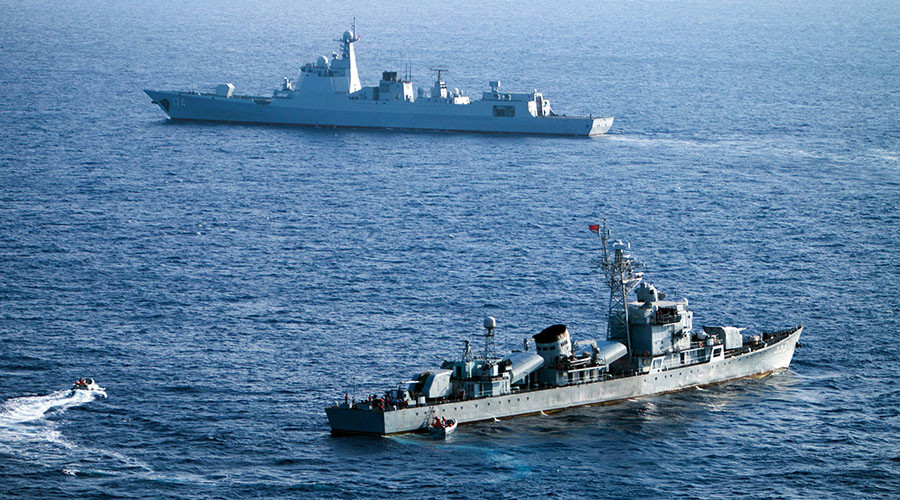 What tensions? Chinese ships join US Navy in massive Pacific exercise