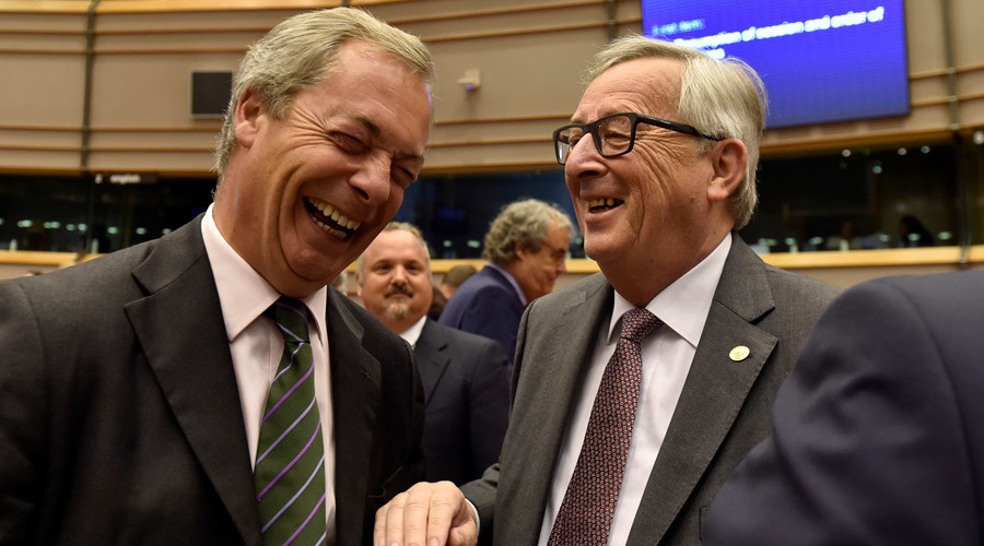 'You've never done a proper job in your lives!' Farage booed as he mocks EU parliament
