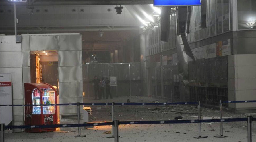 CCTV of Turkey attack: Moment Ataturk Airport bomber explodes himself after being shot (GRAPHIC)