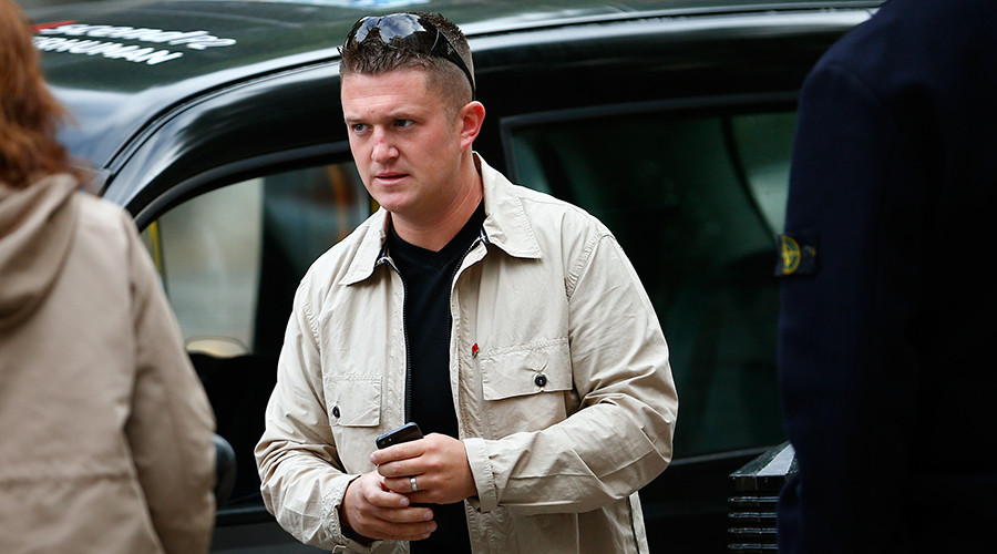 English Defence League leader Tommy Robinson © Andrew Winning