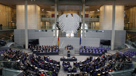 The German lower house of parliament, the Bundestag in Berlin, Germany © Fabrizio Bensch
