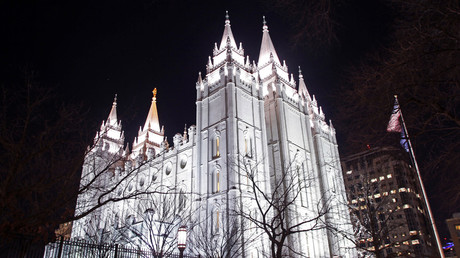 The LDS Church's Mormon Temple in downtown Salt Lake City, Utah. © Jim Urquhart
