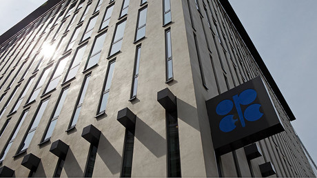 The logo of the Organization of the Petroleum Exporting Countries (OPEC) is pictured at its headquarters in Vienna, Austria © Heinz-Peter Bade