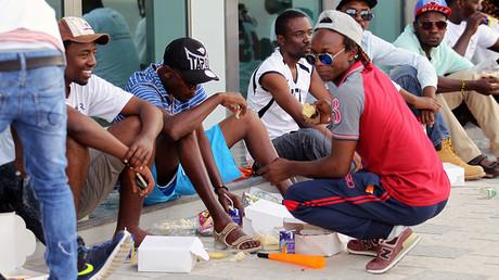 Migrants workers in Doha, Qatar © Naseem Zeitoon