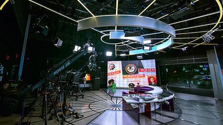 Russia Today Spanish-language newsroom. © Evgeny Biyatov