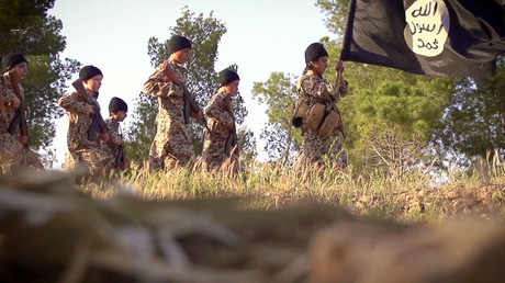 The footage created by the jihadist group's media arm Alhayat Center.