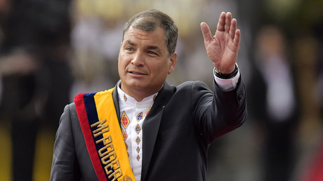 Ecuadorean President Rafael Correa. © Rodrigo Buendia
