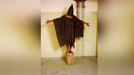 This Iraqi prisoner in Abu Ghraib was tortured by the CIA and US Army. ©Wikipedia