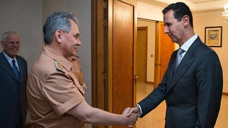 Russian Defense Minister Sergey Shoigu and Syrian President Bashar Assad @mod_russia
