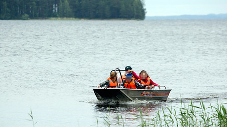Rescue operation on the Syamozero Lake in Karelia, where over 10 children drowned after a tourist boat tragically capsized © Ilya Timin