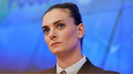 Yelena Isinbayeva, two-time Olympic champion, Merited Master of Sports in Track and Field. © Vladimir Pesnya