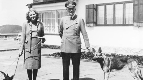 Hitler in 1942 with his long-time lover, Eva Braun, whom he married on 29 April 1945 © Wikipedia