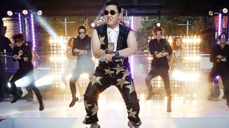 South Korean singer Psy performs his hit