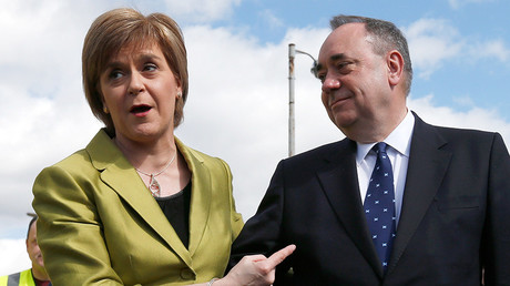 Scotland's First Minister Nicola Sturgeon and The Scottish National Party's (SNP) former leader Alex Salmond  © Russell Cheyne