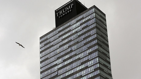 The residence tower of Trump Towers Istanbul is pictured in Istanbul, Turkey © Murad Sezer
