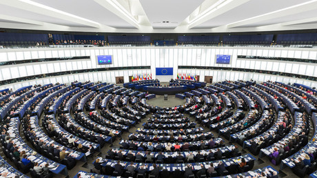 The Parliament's hemicycle (debating chamber) during a plenary session in Strasbourg © Wikipedia