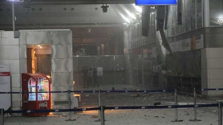 A view of the entrance of the Ataturk international airport after two suicide bombers opened fire before blowing themselves up at the entrance, in Istanbul, Turkey June 28, 2016. ©140journo