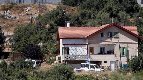 A view shows the house where a Palestinian fatally stabbed a 13-year-old girl in Kiryat Arba settlement, near the West Bank city of Hebron June 30, 2016 © Mussa Qawasma
