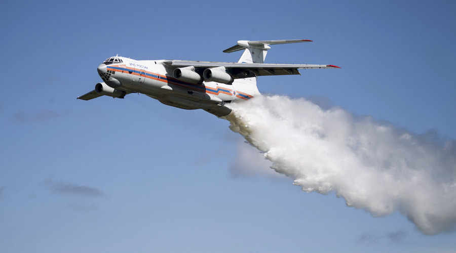 An Ilyushin Il-76TA Candid aircraft of the Russian Ministry for Civil Defense © EMERCOM of Russia