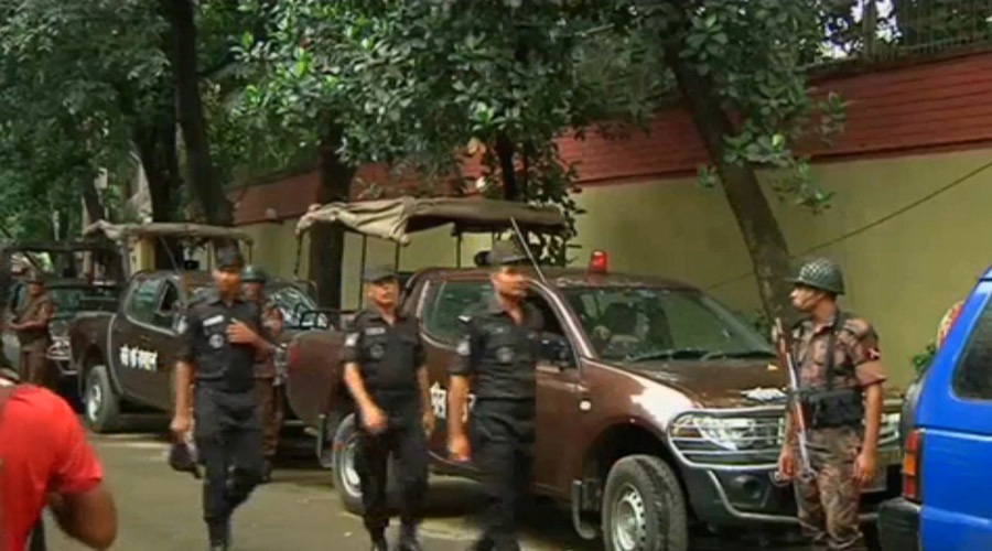 Hostage situation as ISIS gunmen attack restaurant in Bangladeshi capital's embassy district