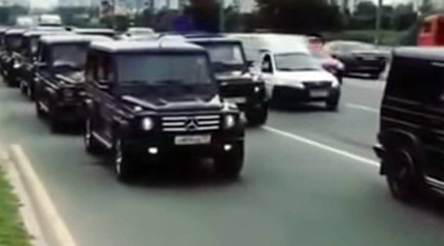 Moscow 'secret police grads' stage luxury car parade, prompt storm of criticism (VIDEO)
