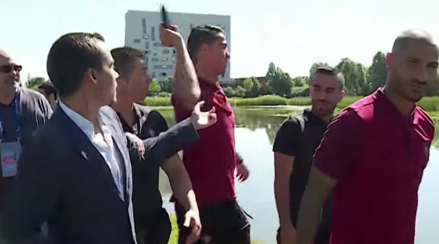Portuguese TV station to auction recovered mic that Ronaldo angrily threw in lake