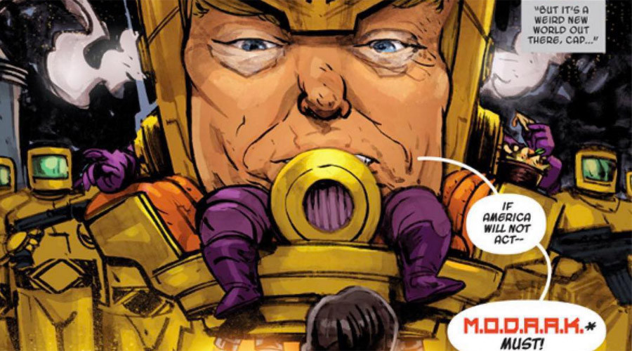 Marvel transform Trump into 'big head' Captain America supervillain (PHOTOS)