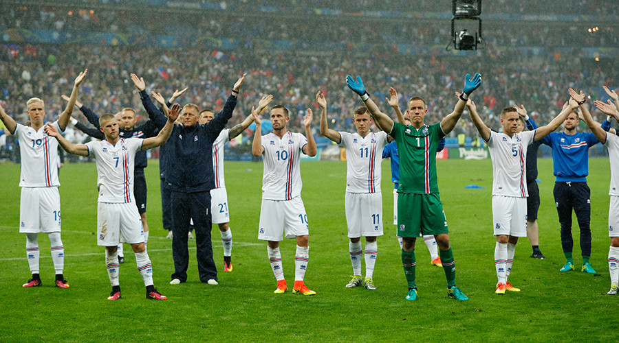 Iceland's final clap: Football fans praise surprise stars of Euro 2016 on Twitter