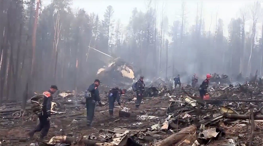 'They saved 1,000s of lives': Russia mourns crew of firefighter plane that crashed in Siberia