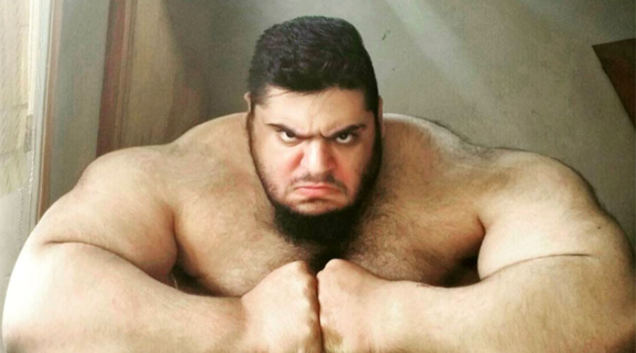 Supersize Iranian 'Hulk' signs up to help crush ISIS in Syria (PHOTOS)