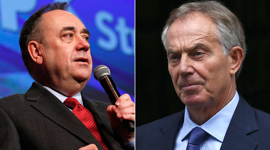 Alex Salmond, Tony Blair © Neil Hall, Russell Cheyne