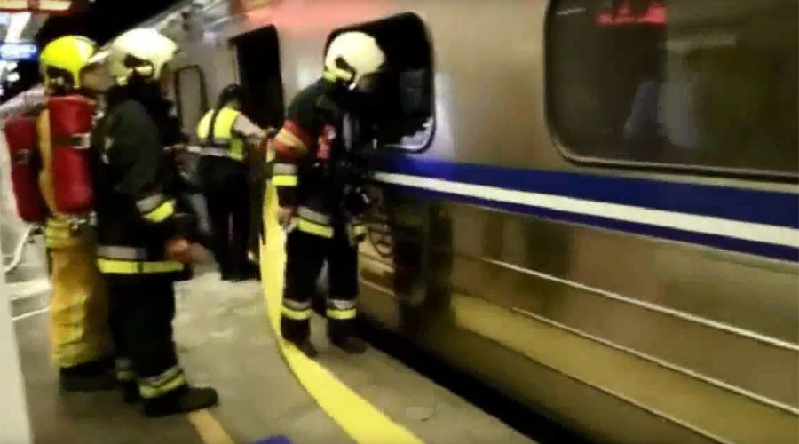 24 injured by blast on passenger train in Taiwan