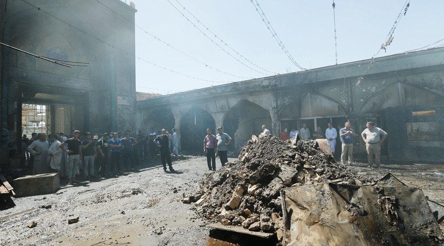 35 dead & over 60 wounded in triple ISIS attack on Shiite holy site outside Baghdad – reports