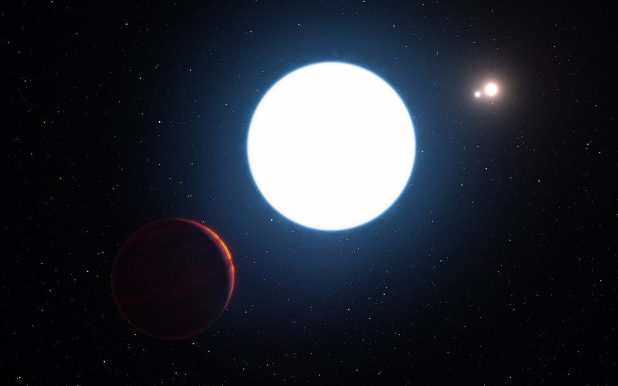 Artist's impression of planet in the HD 131399 system © ESO/L. Calçada/M. Kornmesser