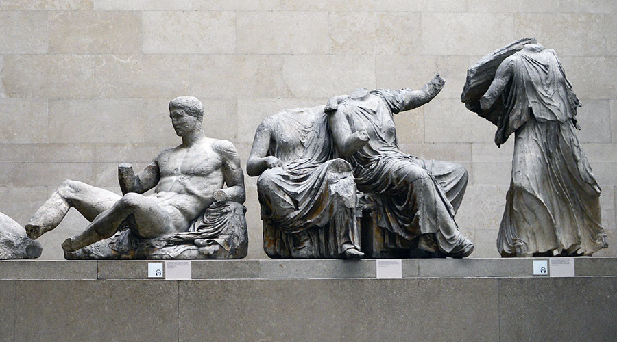 The Parthenon Marbles, a collection of stone objects, inscriptions and sculptures, also known as the Elgin Marbles, are displayed at the British Museum in London. © Dylan Martinez