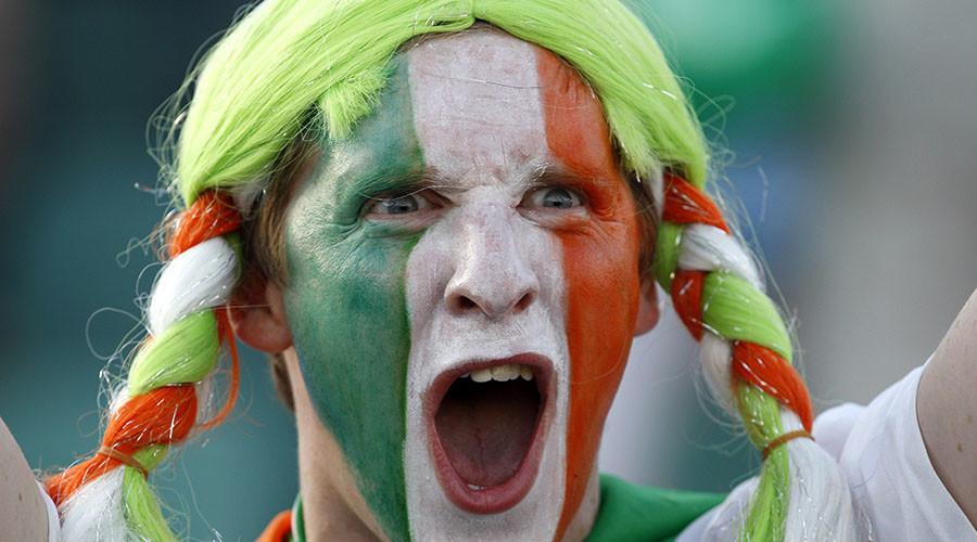 An Ireland soccer fan. ©Oleg Popov
