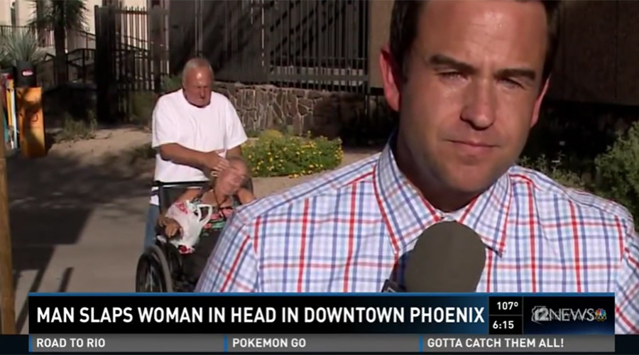 Man caught slapping wheelchair-bound woman on live TV arrested