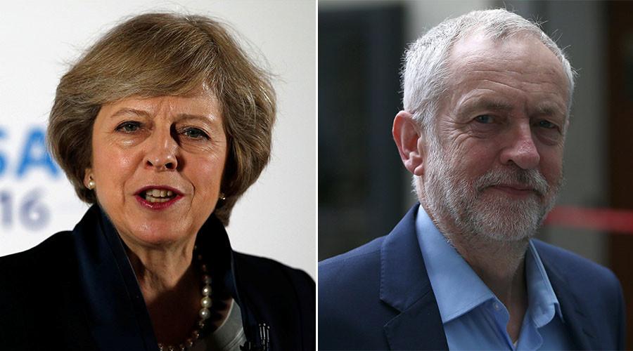 Theresa May and Jeremy Corbin. © Reuters