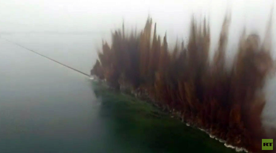 Watch the epic moment 3.7km-long dam explodes in China (VIDEO)