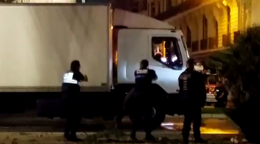VIDEO: Police shoot at truck during fatal Nice terror attack