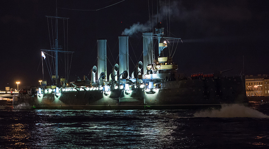 Russian revolution icon, cruiser Aurora, makes spectacular comeback in St. Petersburg (VIDEO, PHOTO)