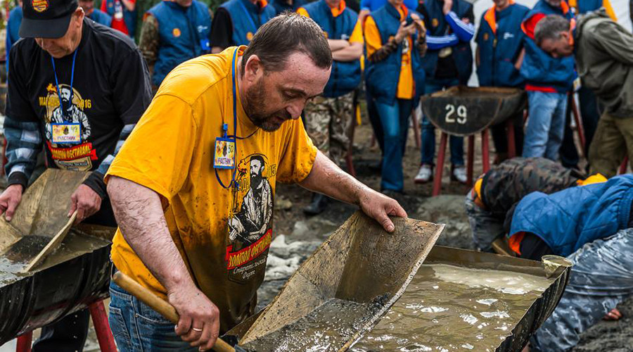 Gold panning contest in Russia's Far East: Dirt, fun & $15,000