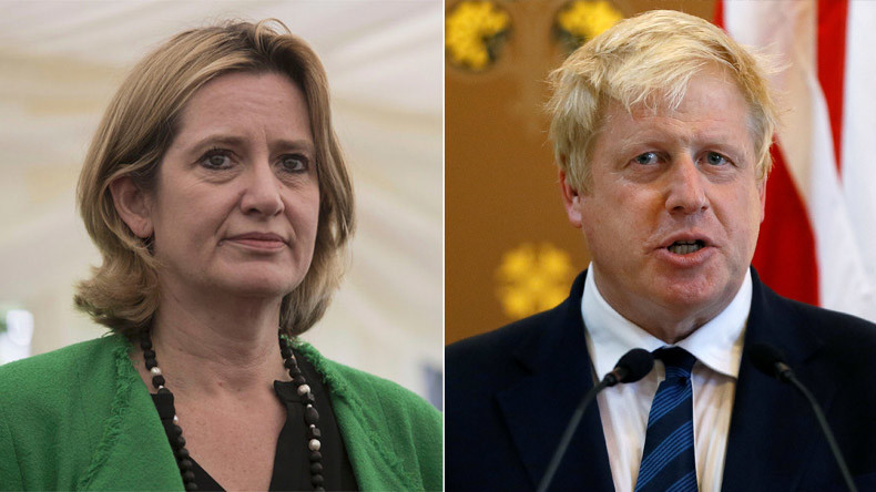 Britain's Home Secretary Amber Rudd and Britain's Foreign Secretary Boris Johnson © Reuters