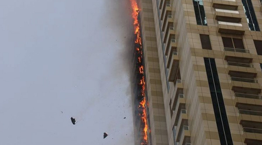 Image result for Sulafa tower fire, photos