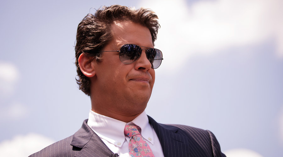 Milo Yiannopoulos, a conservative columnist and internet personality ©  Drew Angerer