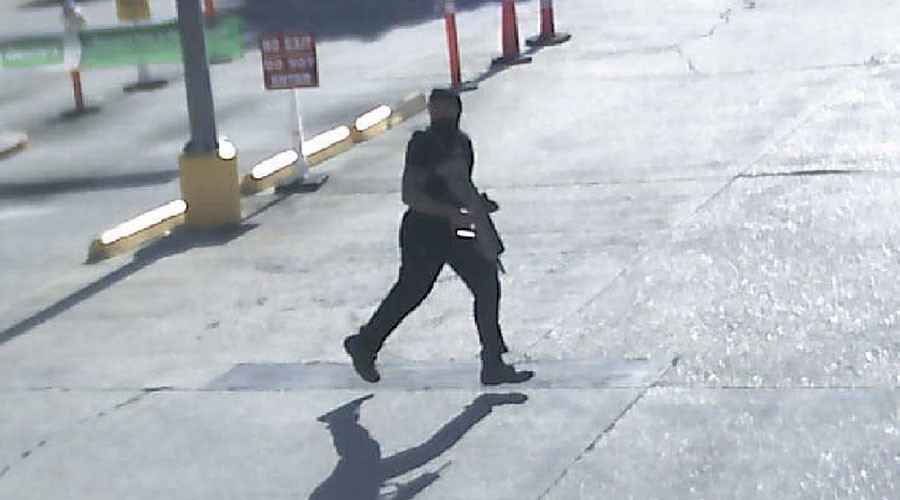 Gavin Long, a black U.S. Marine Corps veteran who shot dead three policemen in Louisiana's capital who deliberately sought out officers to assassinate them, according to officials, is seen in this still image taken from video in Baton Rouge, Louisiana, U.S., July 18, 2016. © Louisiana State Police