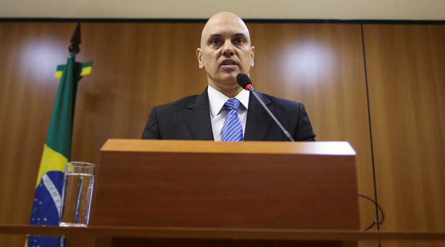 Brazil's Justice Minister Alexandre de Moraes attends a press conference on arrests made in at least two states before the start of the Rio 2016 Olympic Games, in Brasilia July 21, 2016. © Adriano Machado