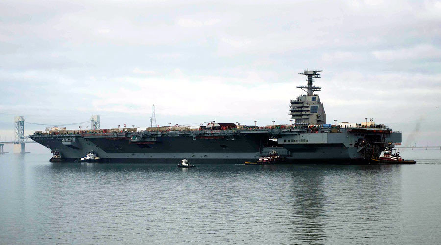 US Navy's costliest-ever carrier USS Gerald Ford 'unlikely to succeed in combat' – leaked DoD memo